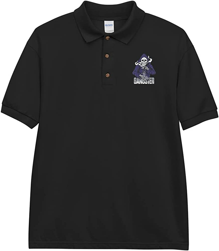 Gangster Embroidered Polo Shirt
