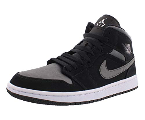 Jordan Nike Men's Air 1 MID SE Black/Grey 852542-012 (Size: 9.5)