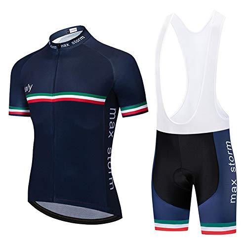 Estivo Abbigliamento Ciclismo Set Nuova Collezione Uomo Abbigliamento Sportivo per Bicicletta Maglia Manica Corta Pantaloni Salopette