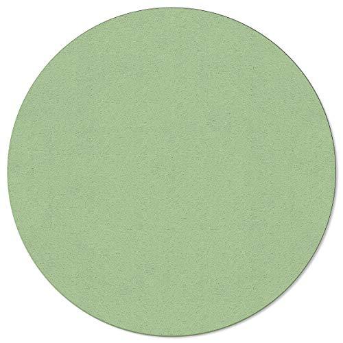SunnyM Alfombra redonda de 1,22 m, patrón verde pálido, suave, interior, sala de estar, dormitorio, sala de juegos para niños, cocina, antideslizante, color puro