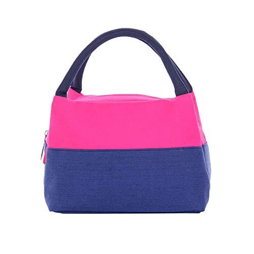 EVAEVA-bags Lunch Tasche Isolierte Thermal Cooler Lunch Bag Pouch Picknick Aufbewahrungsbox im Freien Brotdosen & Wasserflaschen für Outdoor Lunch Reisen 9x24x16cm