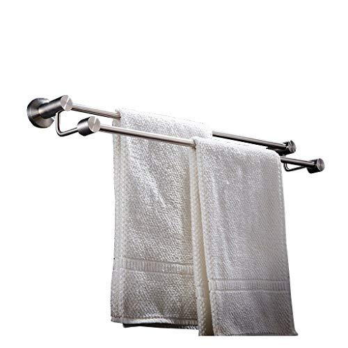 WZBL Badetuchhalter aus Edelstahl 304 Doppelte Handtuchstange (Size : 80cm)