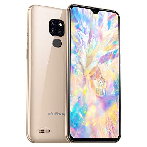 Ulefone Note 7P 32GB Speicher 4G Smartphone - 15,49cm 6,1 Zoll Handy FHD+ Display, 3GB RAM, Dual-SIM, Android 9.0, Fingerabdrucksensor, OTG - Gold