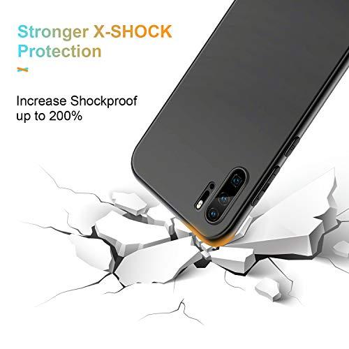 Hülle für Huawei P30 Pro, Slim Fallschutz Case, rutschfest Hochwertig TPU Weiche Case Cover, Anti-Fingerabdruck, Anti-Kratz Feine Matte Schutzhülle für Huawei P30 Pro (Schwarz)