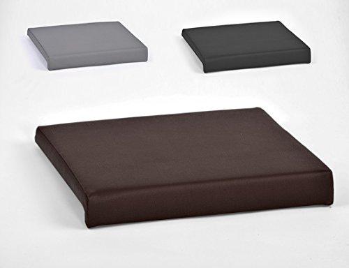 animal-design Klemmkissen für Sitzbank Sitz-Kissen 1 Leiste Kunstleder ca. B 40 cm x T 35 cm / 38 cm x H 6 cm in grau, schwarz oder braun, Farbe:braun