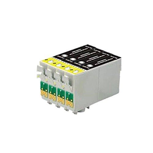 4negro ECS Compatible cartuchos de tinta reemplazar T0801para impresoras Epson PX830FWD R265, R285, R360, RX560, RX585, RX685PX730WD PX800FW PX810FW PX820FWD P50PX650PX660PX700W PX710W PX720WD