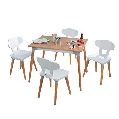 KidKraft - Juego de mesa y 4 sillas retro para niños y niños