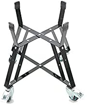 Aura Outdoor Products Rolling Cart Rolling Nest for Large Kamado Grills, Big Green Egg Accessories Powder Coated Best Casters