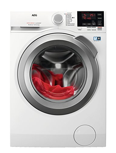 AEG L6FBA68 Waschmaschine / 8 kg / Waschvollautomat mit Mengenautomatik, Nachlegefunktion,...