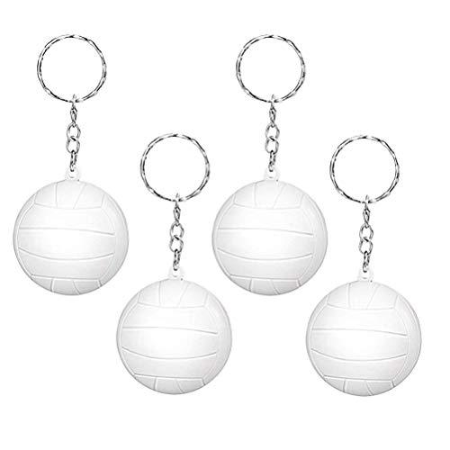 Toyvian Sport Schlüsselanhänger Volleyball Keychain Anhänger Auto Schlüsselbund 20 Stücke (Weiß)