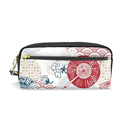 Rootti Japan Flower Pattern Pencil Case Pen Bag Students Stationery Supplies Pouch with Zipper Cosmetic Makeup Bag Storage Bag Makeup Bag for Men Women