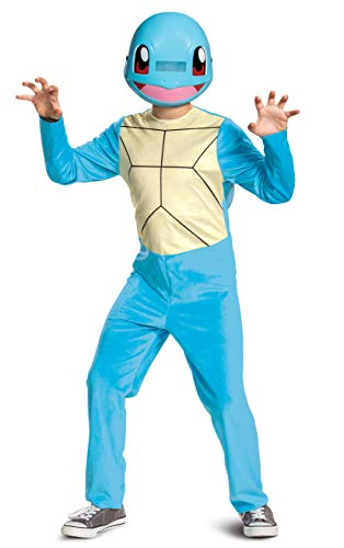 Pokemon Kids Squirtle Costume, Children's Classic Character Outfit, Child Size Small (4-6) Blue