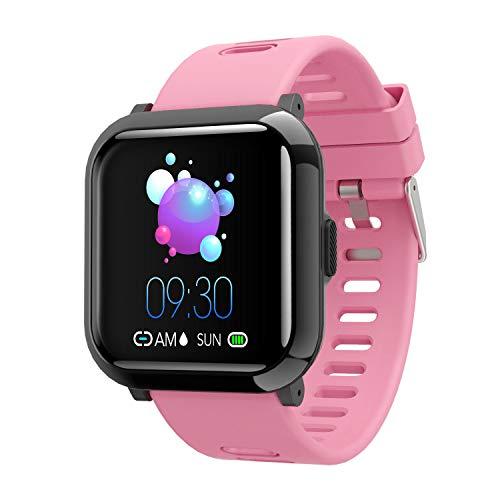 YoYoFit Smartwatch, Fitness Armband Uhr Voller Touchscreen Fitness Uhr IP68 Wasserdicht Sportuhr Tracker mit Schrittzähler Pulsuhren Stoppuhr Anruf SMS SNS für Damen Herren für iOS Android