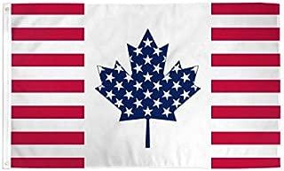 USA Canada Friendship Polyester Flag 3 X 5ft-(FI)