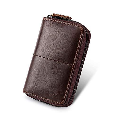 feilai Reisezubehör Leder Kartentasche Zertifikat Paket Bankkarte Bus Karten-Sets Kartenhalter (Farbe: Kaffee)