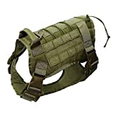 AiKoch Tactical-Service-Hundeweste Training Jagd Nylon Wasserabweisend Military Patrol Einstellbare Hundegeschirr Handgriff-Jagd Coat (Color : Army Green, Size : M)