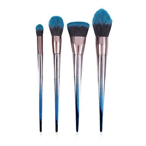 Ensemble de pinceaux de maquillage - Ensemble de pinceaux de maquillage diamant - Ensemble de maquillage de pinceau poudre fond de teint, 2 types(4pcs)