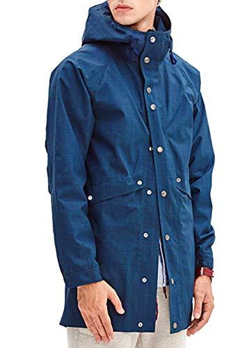 Romanstii Raincoat Mens Waterproof with Hood Rain Slickers Windproof Windbreaker Tech Jacket with...