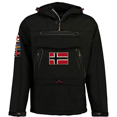 Geographical Norway Chaqueta Softshell DE Hombre TYKOON Negro XL