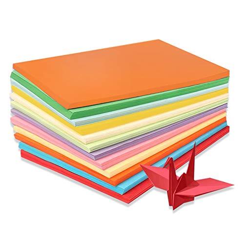 DELLCCIU 10 Farben, A4 130 g/m²,100 Blatt Verdicken Buntpapier Farbigen A4 Kopierpapier Papier, Farbige Buntes Papier Ton-Papier, für DIY Kunst Handwerk (20 * 30cm)