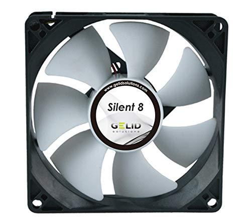 GELID Solutions Silent 8 - 3 pin di 8mm per custodia standard. Operazione silenziosa. Pale del ventilatore ottimizzate. Alta portata d'aria
