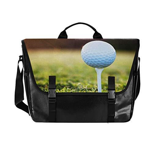 ALARGE Laptoptasche, Messenger Bag, Sporttasche, Golfball, Sonnenglas, Canvas, Computer-Aktentasche, Reisetasche, Tragegriff mit Schultergurt, 38,1 cm (15 Zoll)