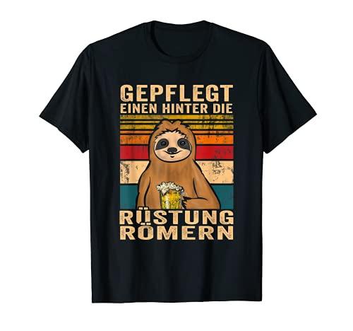 Einen hinter die Rüstung römern Biertrinker Bier Spruch T-Shirt