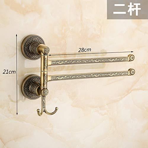 KaO0YaN-Towelrack Europäischer antiker Handtuchhalter mit Retro-Handtuchhalter,zwei Stangen