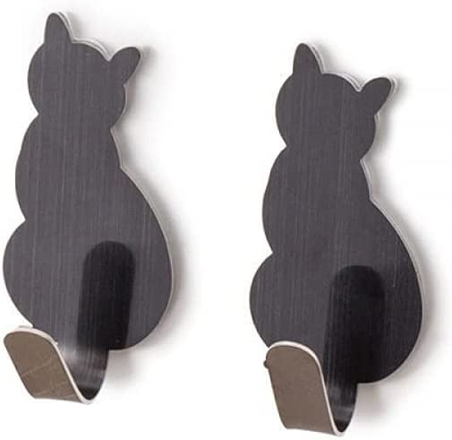 wuzun 2pcs Self Adhesive Product Hooks Cat Holder for Storage Ba Pattern Limited time trial price