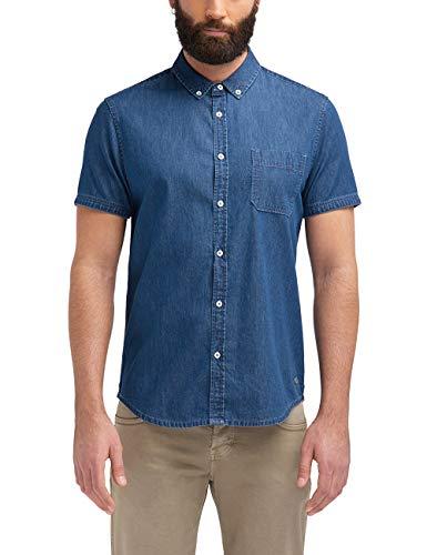 mustang 1/2slv_1/p_BD Camisa, Azul (Denim Blue 5396), Small para Hombre