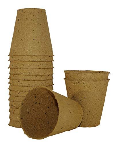 GOLDEN LINE Lot de 16 Pots biodégradables pour la Conservation des Plantes de 8 cm de diamètre.