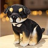HYSLYQ Juguetes De Peluche Almohada Akita Rottweiler Beagle Husky Perro Muñeco De Peluche Animal Juguetes para Mascotas para Niños Decoración del Hogar Chico Regalo 18Cm