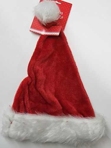 AbbeyShake luxury deluxe father Christmas red and white santa hat - adult size