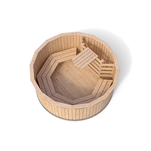 Badezuber Badefass Holz Badetonne 190 oder 240 cm (190 cm) - 2
