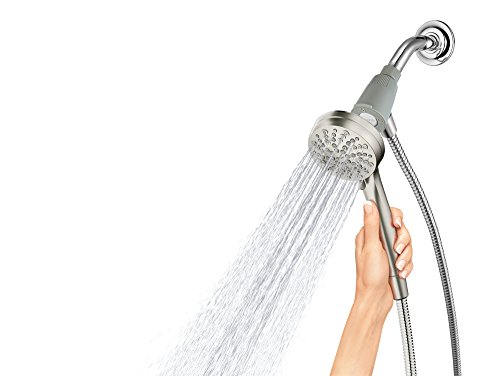 Moen 26100EPSRN Engage Magnetix 3.5-Inch Six-Function Handheld Showerhead with Eco-Performance Magnetic Docking System, Spot Resist Brushed Nickel