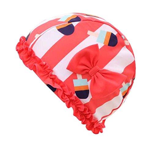 Black Temptation Tissu Bow Tie Bonnet de Douche Spa Bonnets de Bain Long Cheveux lâches Bonnets de Bain-C1