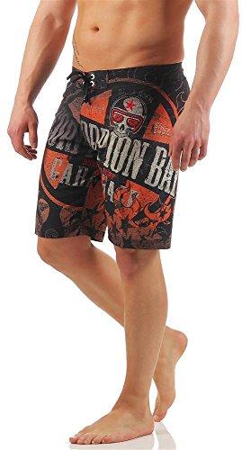 Scorpion Bay Boardshort Boxer Mare Costume MBS3350 Orange, Mehrfarbig 34