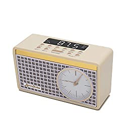 Byron Statics Clock Radio FM Radio Digital Alarm Clock Sleep Timer Dimmer Preset Station Retro Clock Snooze Function Heavy Sleepers Backup Battery Keep Time Accurate Bedroom Home Nightstand Kitchen