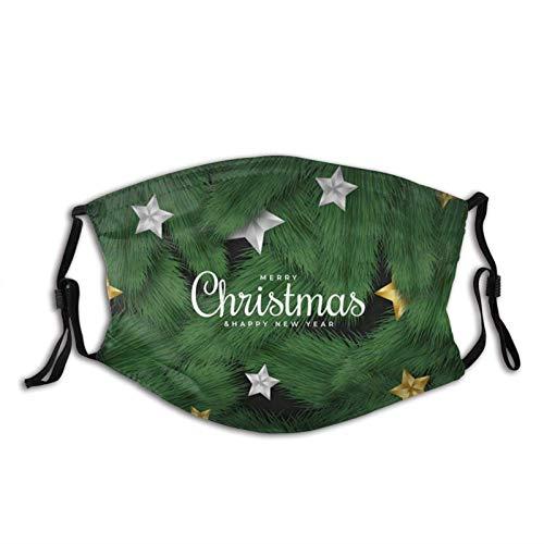 Realistic Christmas Tree Face Mask Dustproof Breathable Protective Scarf Reusable Adjustable Washable Fashion Bandana Made In USA