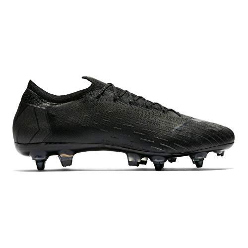 Nike Vapor 12 Elite Sg pro Ac Unisex Adults Low Top Low Top Sneakers Black BlackBlack 001 6 UK 40 EU