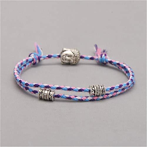 YIYYI HQXIZ Armband Etnisch Tibetaanse Boeddha Hoofd Geweven Amulet Multi kleuren Armbanden