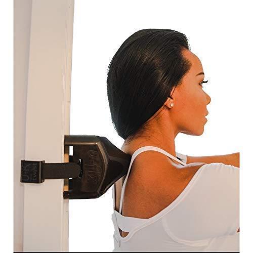 U-FIX Back and Neck Massager (Black), DOORJAMB Mounted, Shoulder Massager