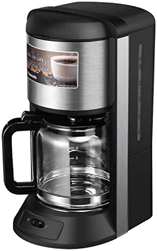 Máquina de café con vapor, pequeña, diseño antigoteo, sistema de termostato inteligente, panel de acero inoxidable, filtro de recambio