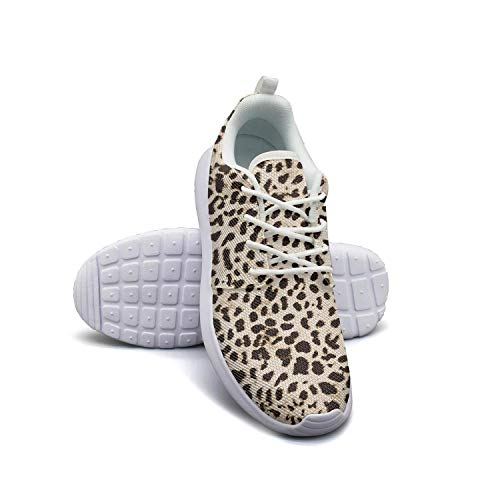 Leopard cheetah print black cream color white Gym Shoes for Women athletic Breathable and Lightweight Best Running Shoes