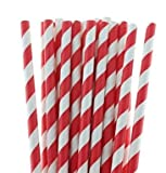 Ambassador TWI Printed Designer Paper Straw 10 mm for Shakes, Sodas, Cold Drinks (Pack of 50/Bag)