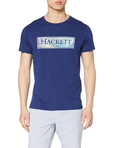Hackett London Hackett Swim Box Camiseta, 5seblue Depth, M para Hombre