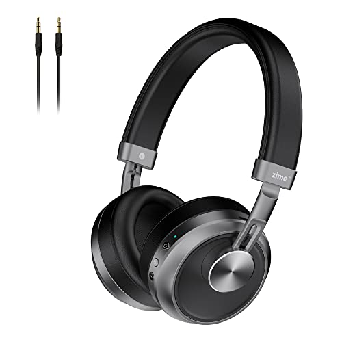 Zime Ranger Wireless Multi-Platform Gaming Headsets with Microphone, Ultra Low Latency Bluetooth Headphones, Superior Stereo Sound, Wireless & Wired for Phone PC Laptop (Grey)