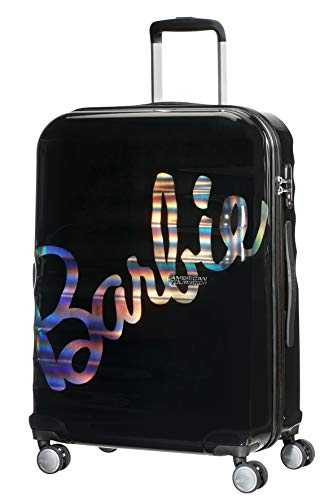 American Tourister Wavebreaker Barbie - Spinner M Koffer, 67 cm, 64 L, Schwarz (Shimmer Power Barbie)