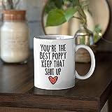 Taza de taza con texto en inglés 'You're the Best Keep That Shit Up', regalo divertido para los mejores amigos, regalo de cumpleaños, Halloween, Navidad, Día del Padre