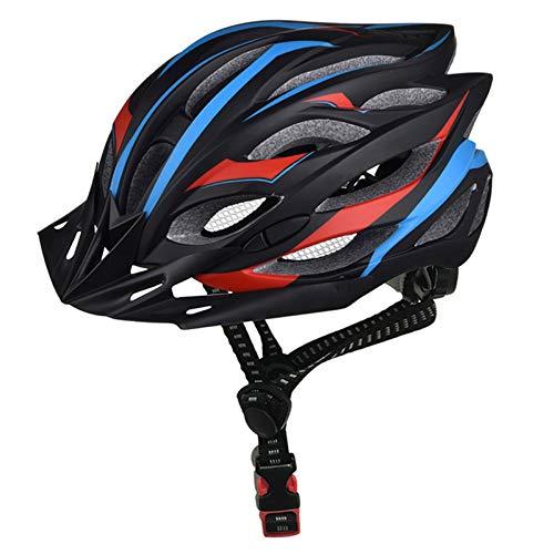 Casco Bicicleta Yuan Ou Casco de Ciclismo Ultraligero Profesional EPS + PC Casco de Bicicleta de Carretera Casco de Bicicleta de Molde Integral Negro Azul